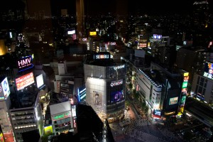Shibuya crossing, taken from my hotel window